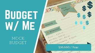Mock Budget | $30,000 per Year |