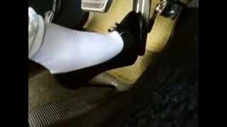 Pumping in high heels