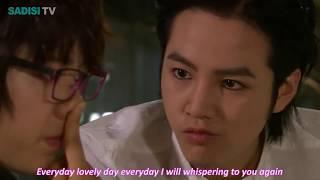 Park Shin Hye sings Lovely Day with Jang Geun Suk - ENG SUB You