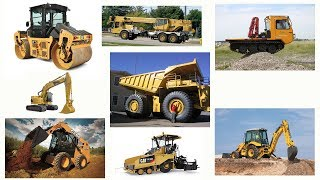 Learn Construction Trucks Names for Kids: Truck, Excavator, Cranes, Cars | Truck Videos for Children
