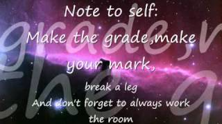 Note to Self Skye Sweetnam lyrics