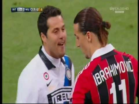 Julio Cesar prende in giro Ibrahimovic prima di calciare il rigore. Ibra fa goal