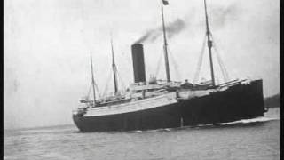 Carpathia arriving at New York with survivors from Titanic