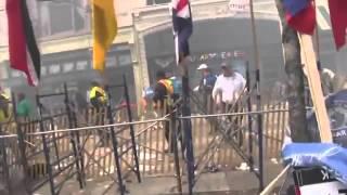 اوضح فديو لانفجار بوسطن الامريكية - Explosions at the Boston Marathon