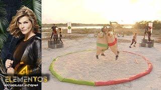 Luchas de sumo: Salvador Zerboni vs El Rasta | #Reto4Vota  | Reo 4 Elementos