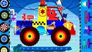Truck Driver Monster Truck : Dinosaur Cars Cartoons - Car Driving for Children   Videos for KIDS