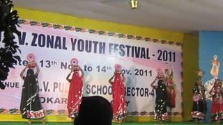 NACHE GORI BAJE RE RANGILI CHANG ||YOUTH FESTIVAL 2011|| SHUBHAM KUMAR'S CHOREOGRAPHY|| FOLK DANCE||
