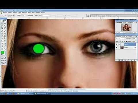 Como cambiar el color de los Ojos con Photoshop