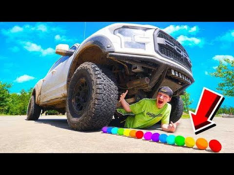 CRUSHING 50 SATISFYING THINGS WITH A GIANT TRUCK