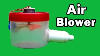 How to Make a Homemade Air Blower using Plastic Container