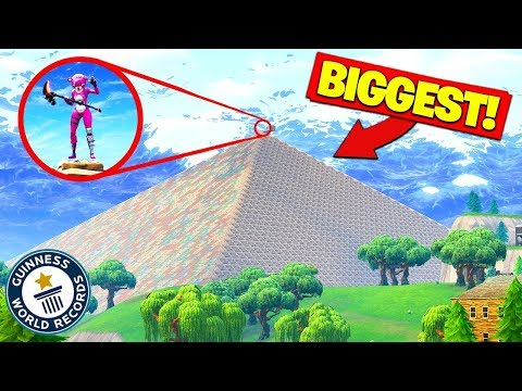 Building The WORLDS BIGGEST PYRAMID In Fortnite Battle Royale