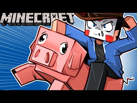 TURNING ALL THE MOBS INTO BIKES . ON MINECRAFT Animal Bike Mod Ep. 21