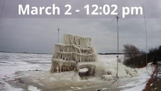 Destruction of the 2016 Lake Superior Ice Project - Sequence of Events