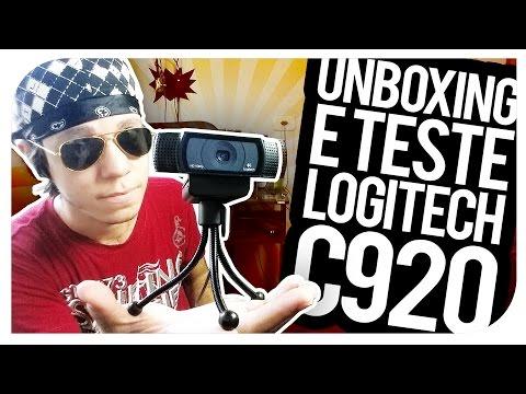 UNBOXING E TESTE Webcam Logitech C920