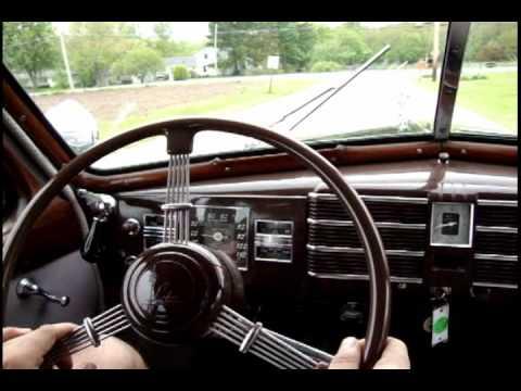 1938 Cadillac Series 90 V 16 Touring Sedan driving