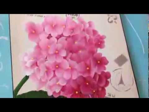 Como pintar hortensias . Herminia Devoto con Mabel Blanco