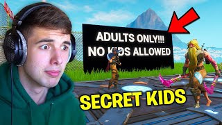 I Found This ADULTS ONLY Fortnite Server.. so I snuck kids in..