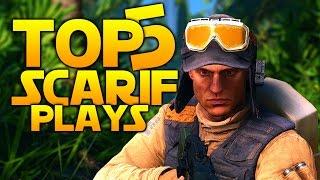 Star Wars Battlefront Top 5 EPIC PLAYS: Scarif DLC Edition!