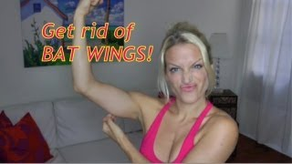 BAT WINGS, get rid of flabby triceps, loose skin, best arm workout for women!