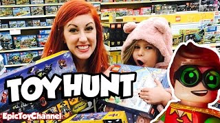 The Lego Batman Movie Toy Hunt + New Teen Titans Go Toys & NEW DC Super Hero Girls Lego Sets