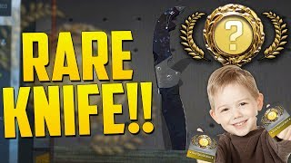 MY SON OPENS A RARE BLACK PEARL KNIFE!! - (CS:GO KNIFE UNBOXING)