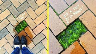 Random Acts Of Genius Vandalism Surprised Passer 🔹 Creative Street Art  Art Positive Vandalism