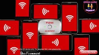 Airtel 4G Hotspot Get 4G || Speeds On All device New Hotspot |||||||