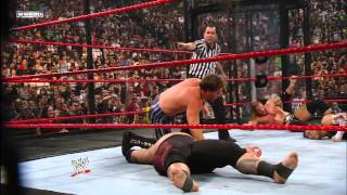Triple H vs. Shawn Michaels vs. Chris Jericho vs. Jeff Hardy vs. JBL vs. Umaga - Elimination Chamber