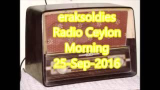 Radio Ceylon 25-09-2016~Sunday Morning~01 Film Sangeet