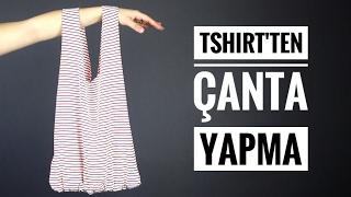 Kendin Yap: Tshirtten Çanta Yapma - Dikişsiz ve Çok Kolay | Giyen Bayan