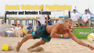 Beach Volleyball Positioning Blocker and Defender Training