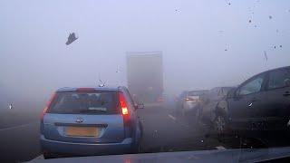 Dashcam Captures Shocking Motorway Pile-Up In Fog
