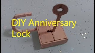 How to make a Working Safe Lock From Popsicle Sticks    DIY Anniversary Lock