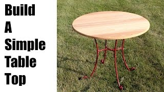 Build a simple table top