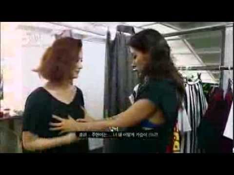 Lee hyori is touching Spica's boobs