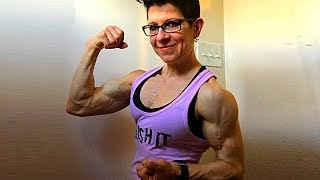 50 years young muscle woman Joan Wolfe
