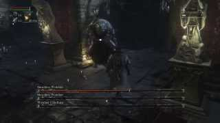 Bloodborne: Level 4 Boss Fight #10 - Merciless Watchers and Chieftain
