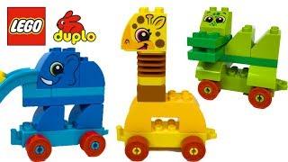 APRENDE LOS ANIMALES DE LA SELVA CON BLOQUES CONSTRUCCION LEGO DUPLO - MY FIRST ANIMAL BRICK BOX