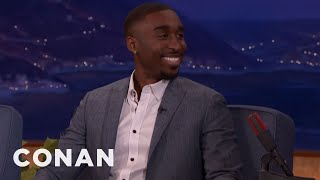 Demetrius Shipp Jr.'s Only Acting Experience Was A School Play  - CONAN on TBS