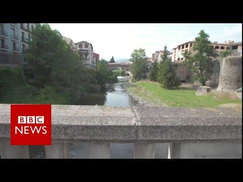 Inside terror suspects' chocolate box town - BBC News