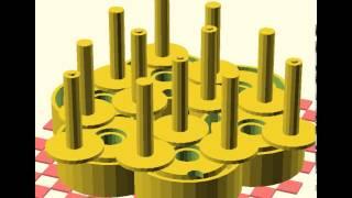 Braiding machine 3D CAD animation