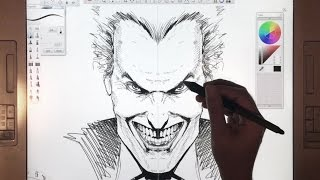 Drawing an ALEX ROSS style JOKER with Sketchbook Pro