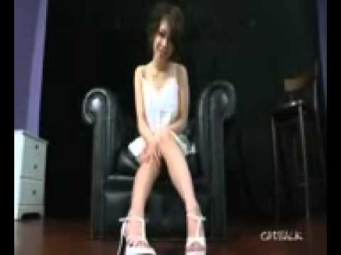 busty asian girl in white heels squirts