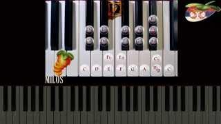 Klavijatura za pocetnike - (Dur akordi)Mayor Chords