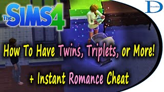 (NO MODS) Have Twins, Triplets, Multiple Births + Instant Romance in The Sims 4