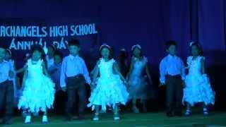 Archangels Annual Day 2014 -  Dance by UKG - Aaj Blue Hai Pani Pani