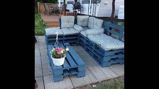 How to make easily  a chaise-long sofa using whole pallets