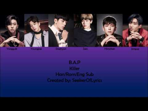 B.A.P - Killer (color coded Han/Rom/Eng) lyrics