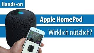Apple HomePod: Siri für das Wohnzimmer | Hands-on / Kurz-Test | deutsch / german | 4K
