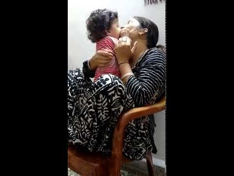 8 months old son kissing his mom! So sweet!